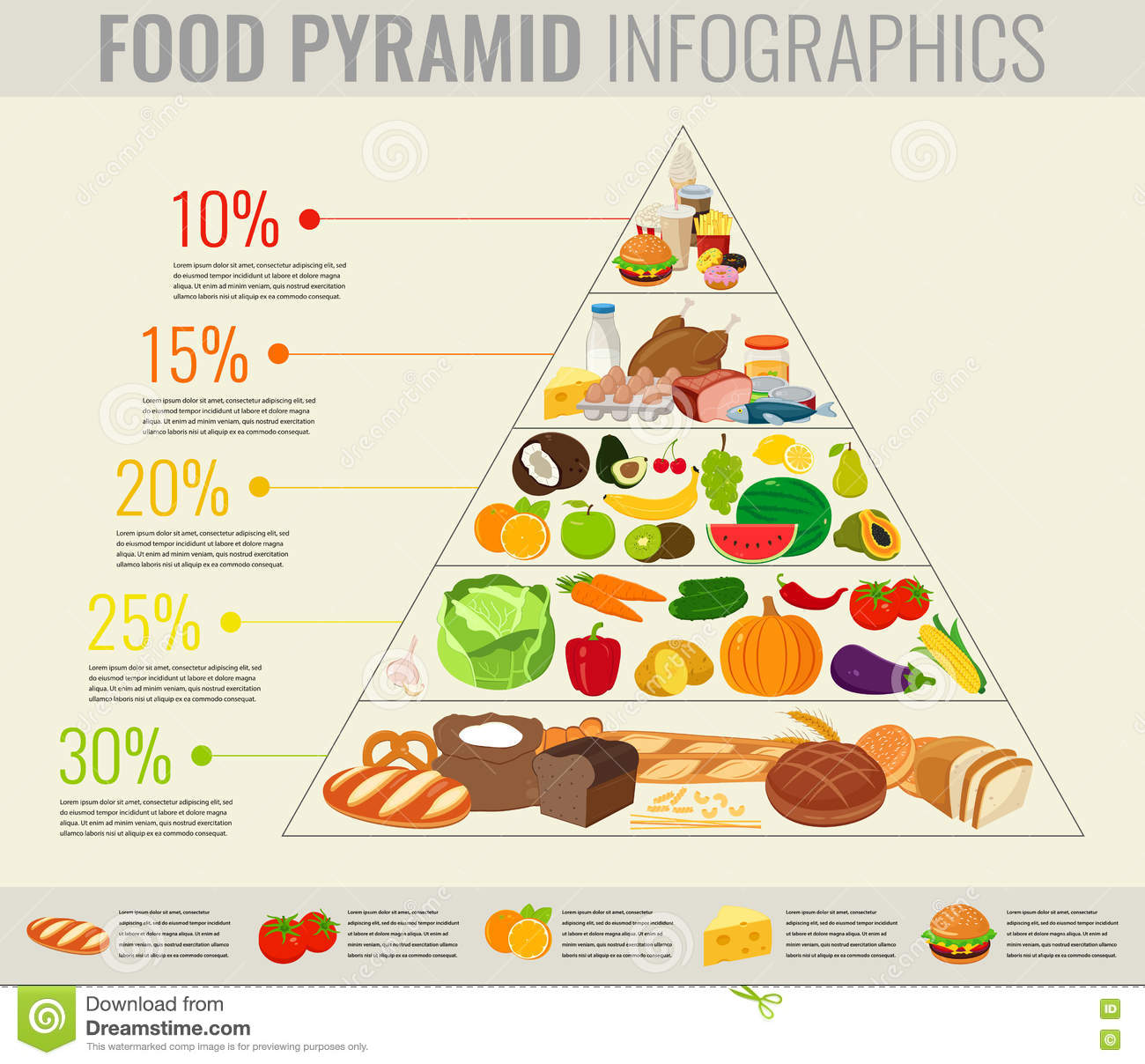 Food Pyramid Healthy Eating Infographic Healthy Lifestyle Icons with regard to The Amazing  healthy diet and lifestyle for your reference
