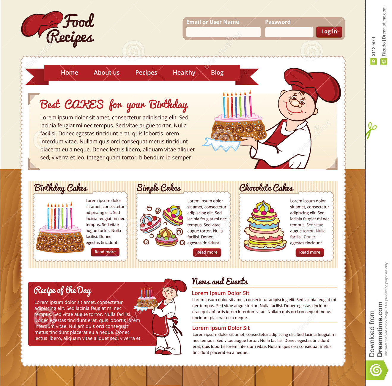 Food Recipes Web Template
