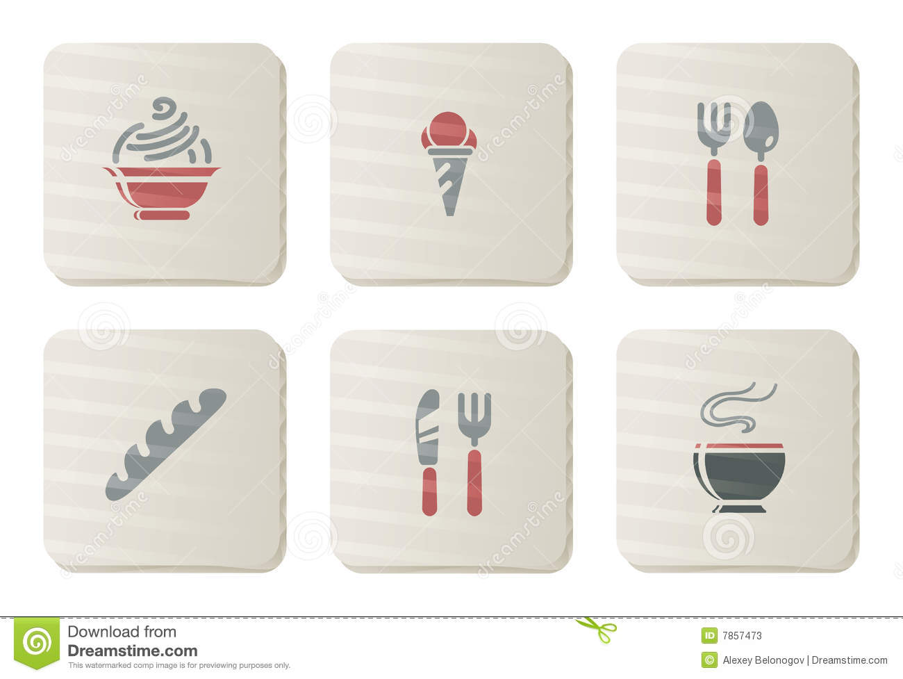 Food and Restaurant icons | Cardboard series