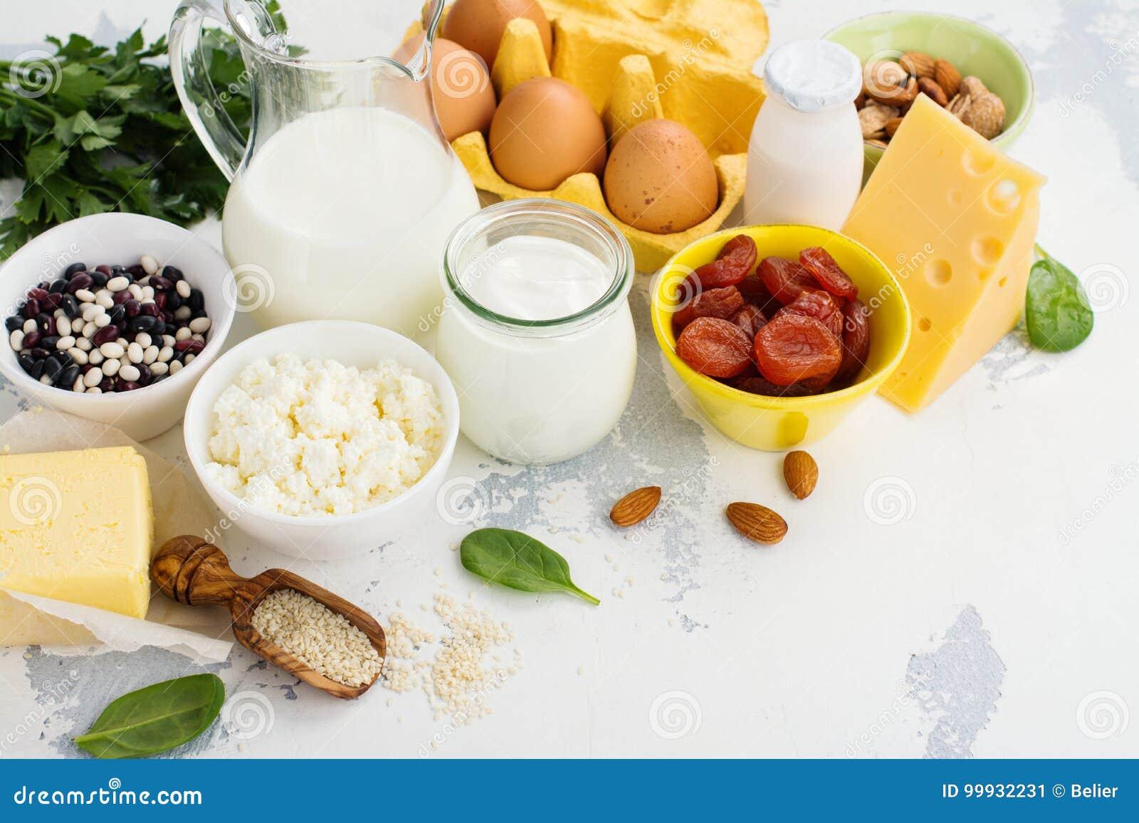 Food rich of calcium