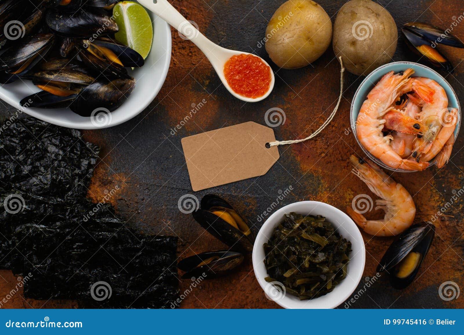 Food rich of iodine