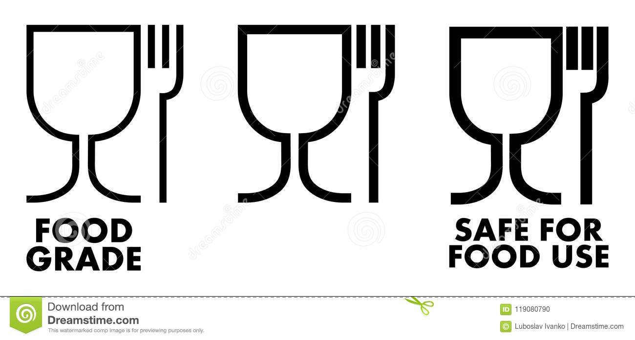 Food Safe Material Sign Wine Glass And Fork Symbol Meaning Plas
