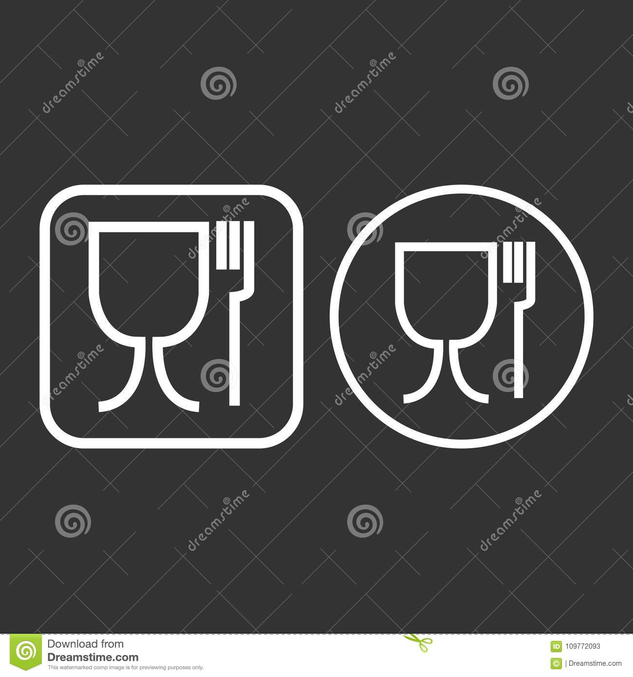 Food safe symbol the international symbol for food safe material is food safe symbol the international symbol for food safe material is a wine glass and a fork symbol sign vector illustration biocorpaavc Gallery