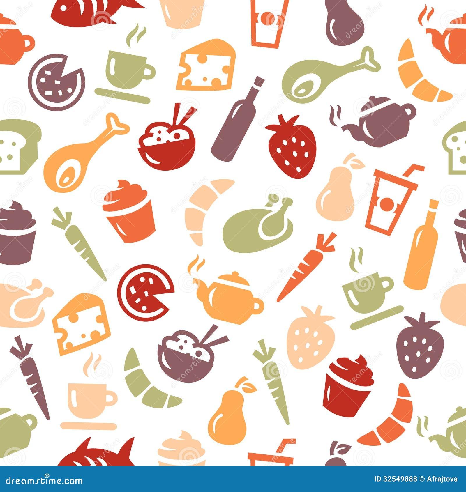 Food Seamless Pattern Royalty Free Stock Photos - Image ...
