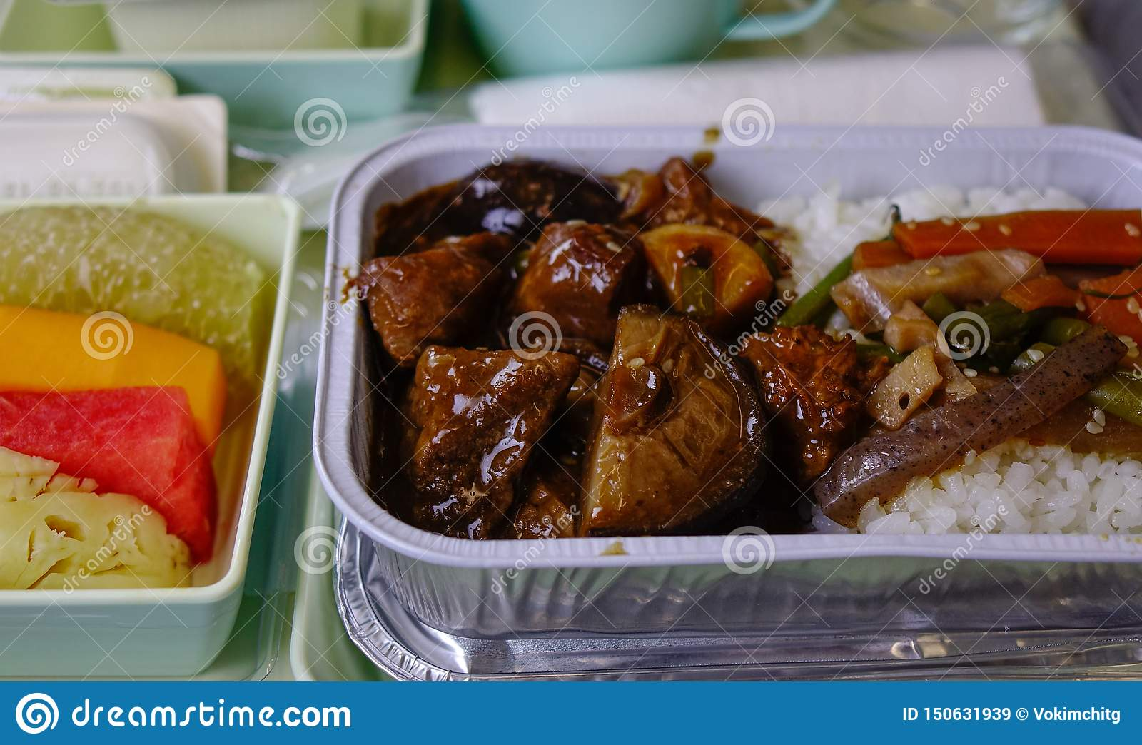 Food served on board of economy class