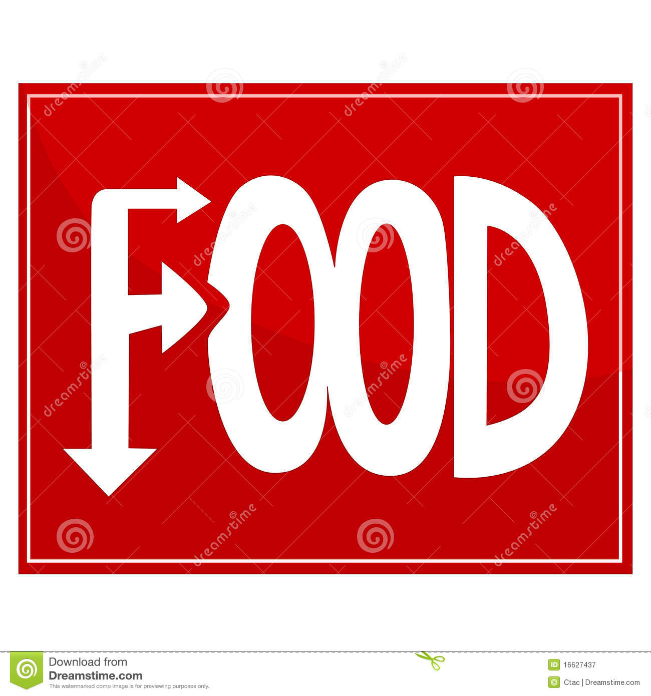 Food Sign Royalty Free Stock Photography - Image: 16627437