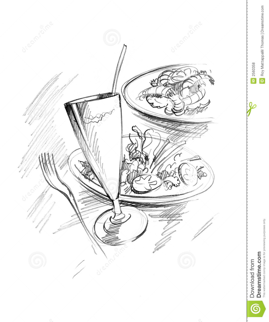 Food Sketch Royalty Free Stock Photos - Image: 2560358