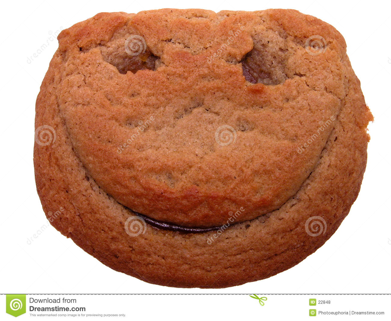 Food: Smiley Face Cookie