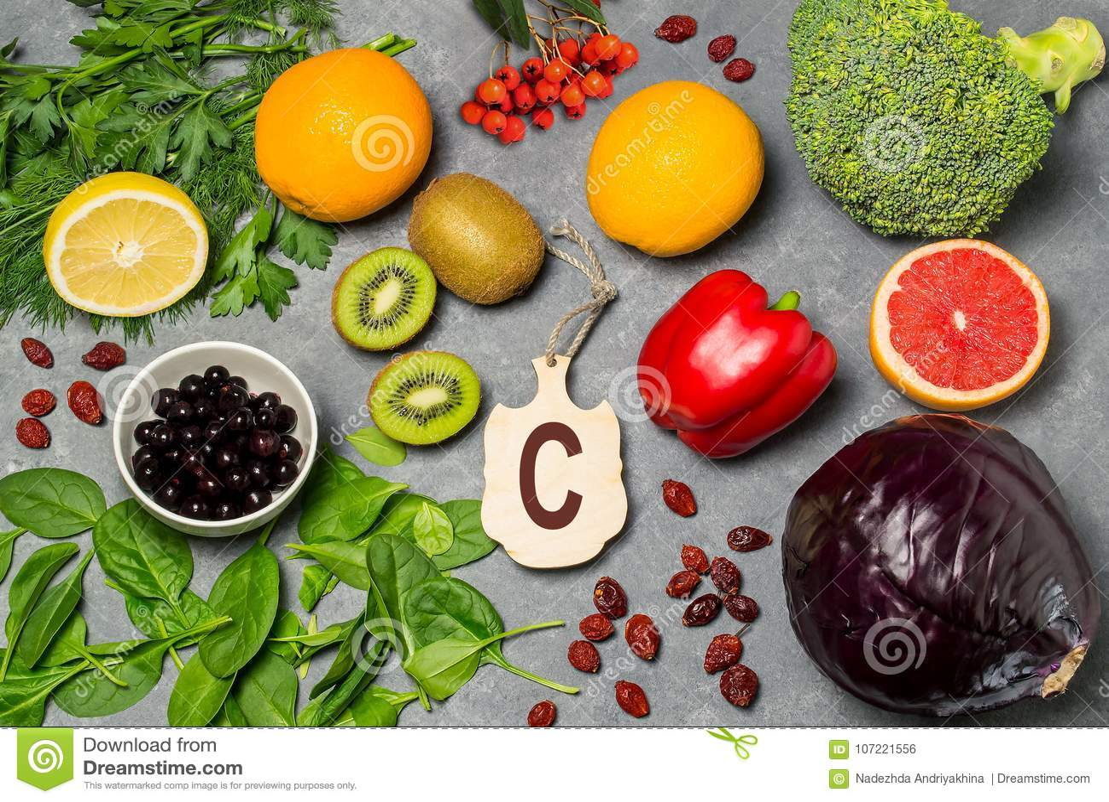 Food is source of vitamin C