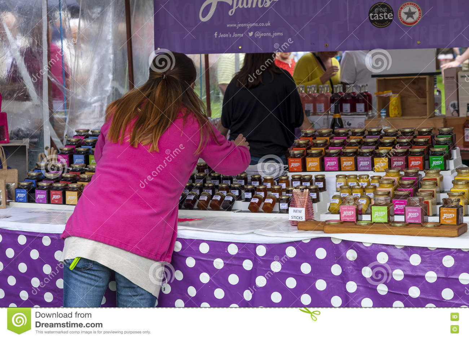 Food Stall at Cramlington, Northumberland.
