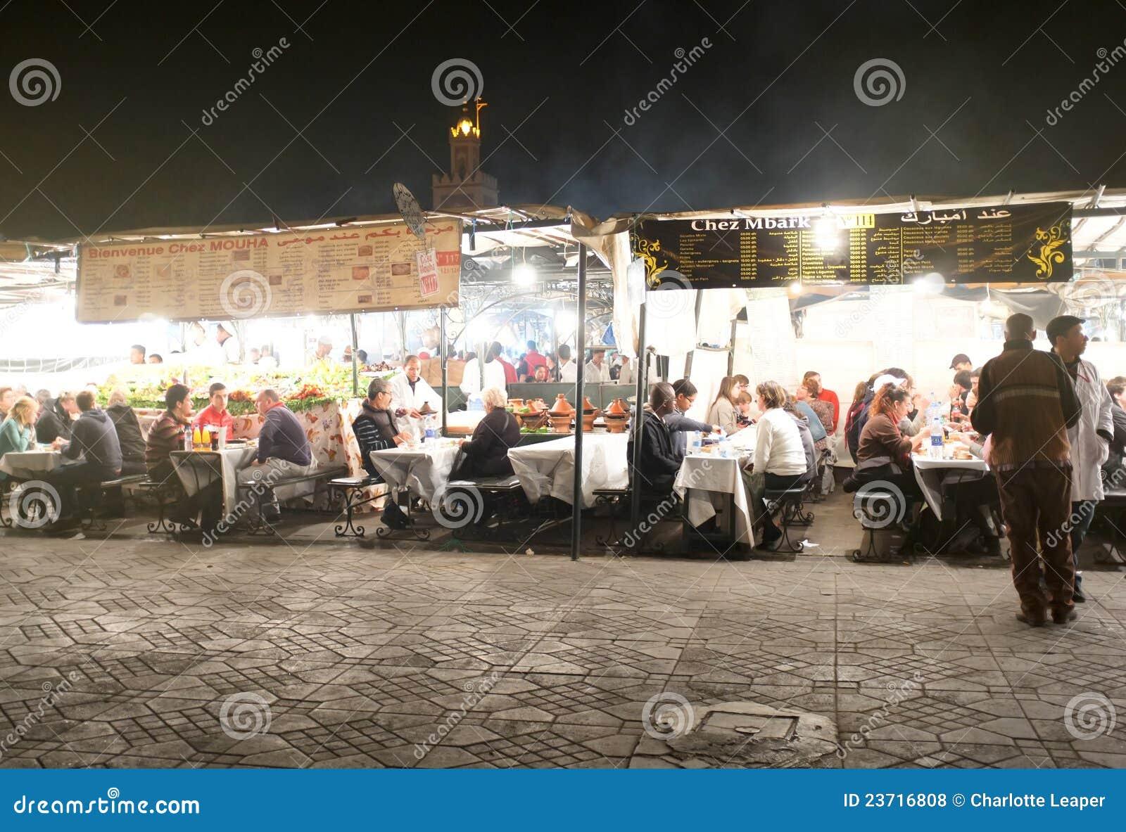 Market Marrakesh night