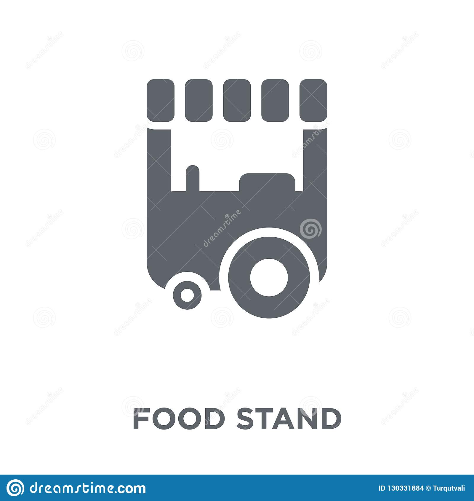 Food Stand Icon From Collection  Stock Vector - Illustration of