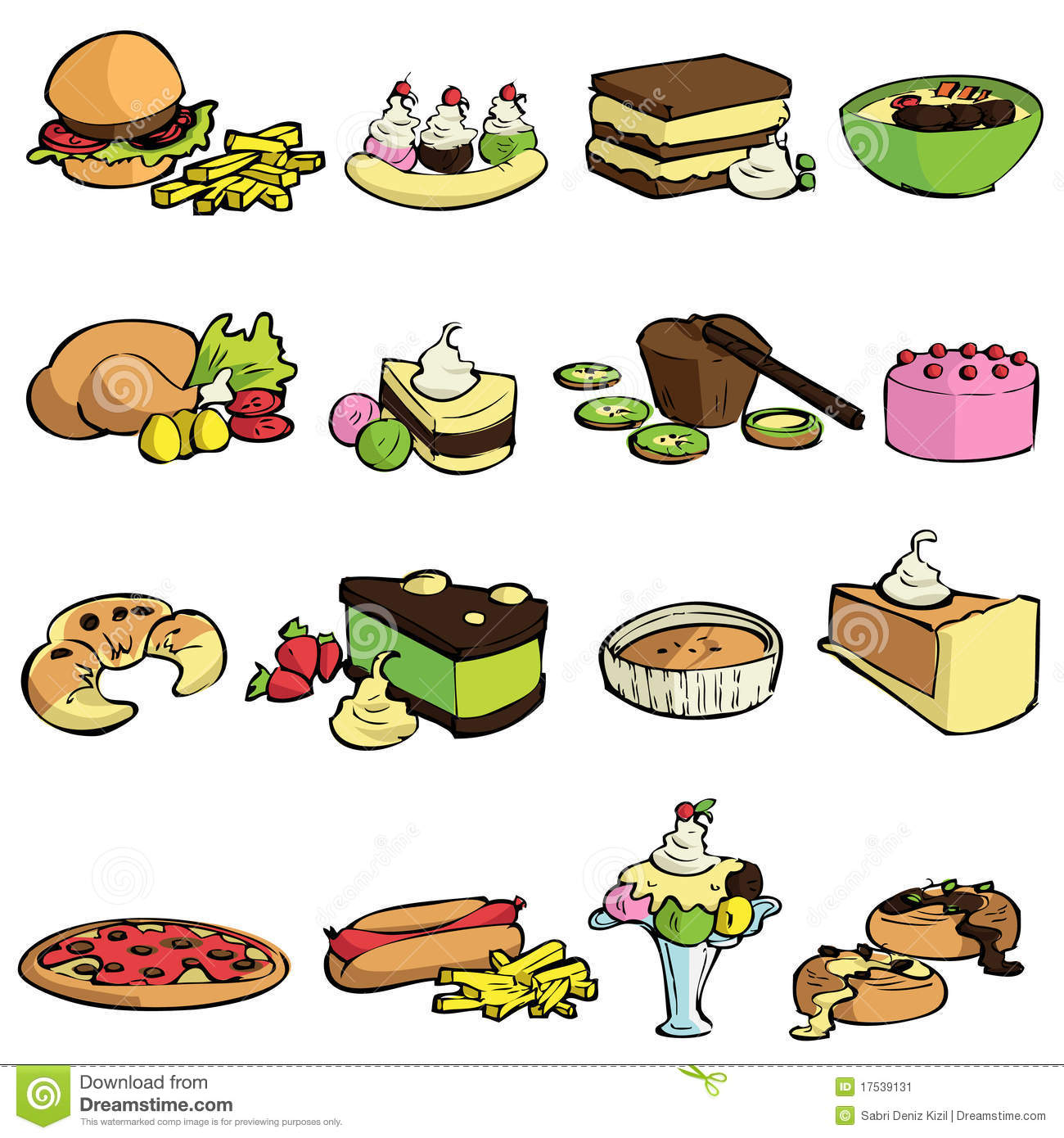 Food And Sweet Vector Stock Image Image 17539131