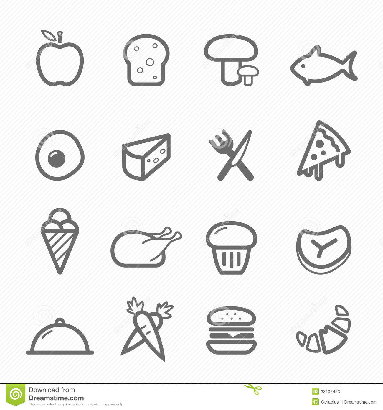 Food symbol line icon on white background vector illustration.
