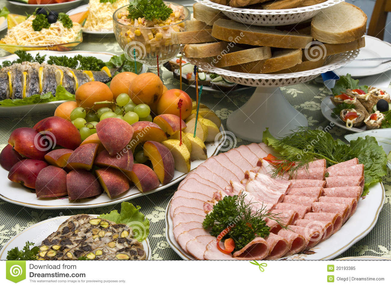 food on the table royalty free stock photo image 20193385