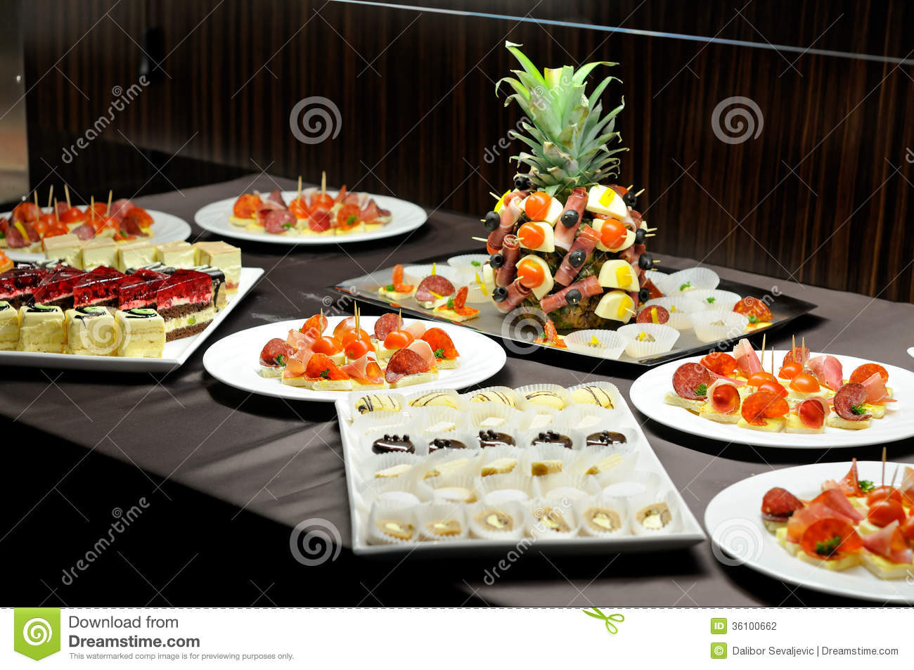 Food Table Stock Photography Image 36100662
