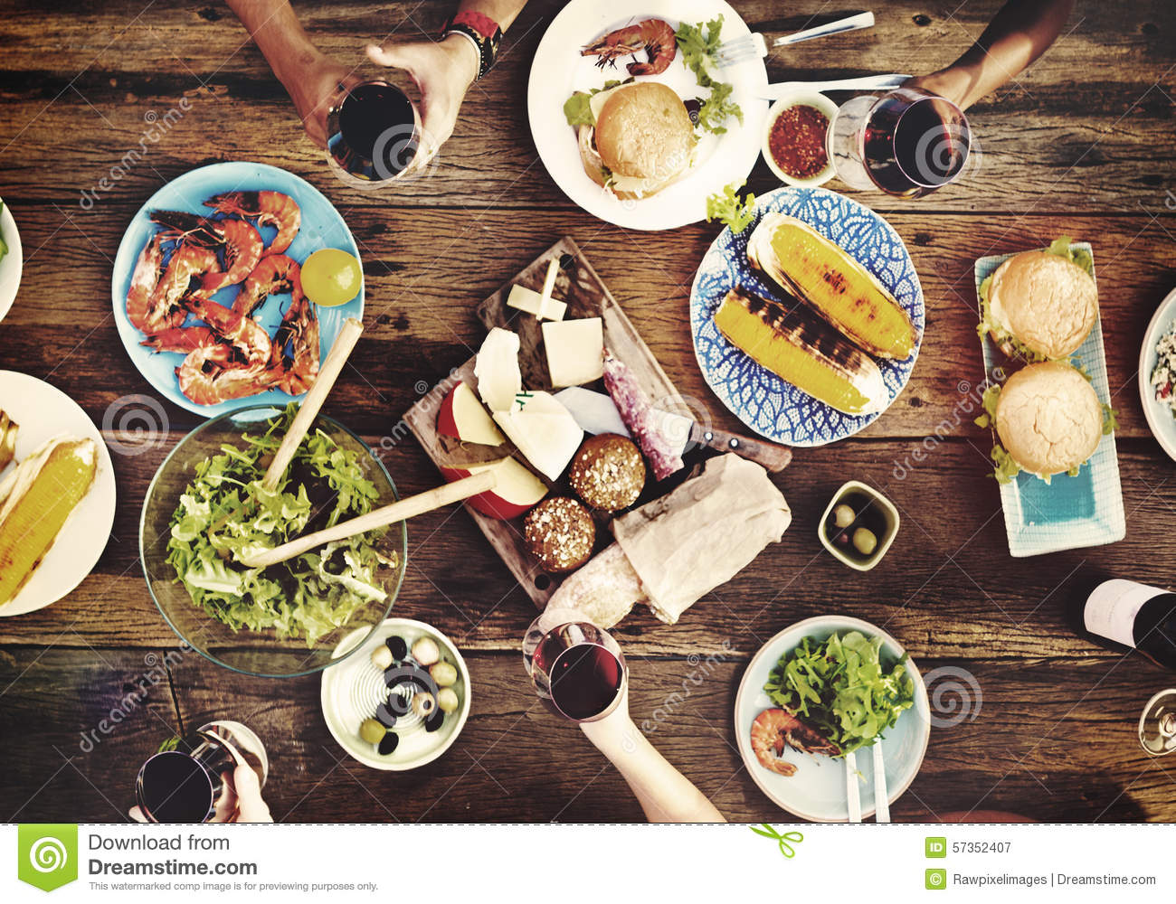 Food table delicious meal prepare cuisine concept stock for Cuisine concept