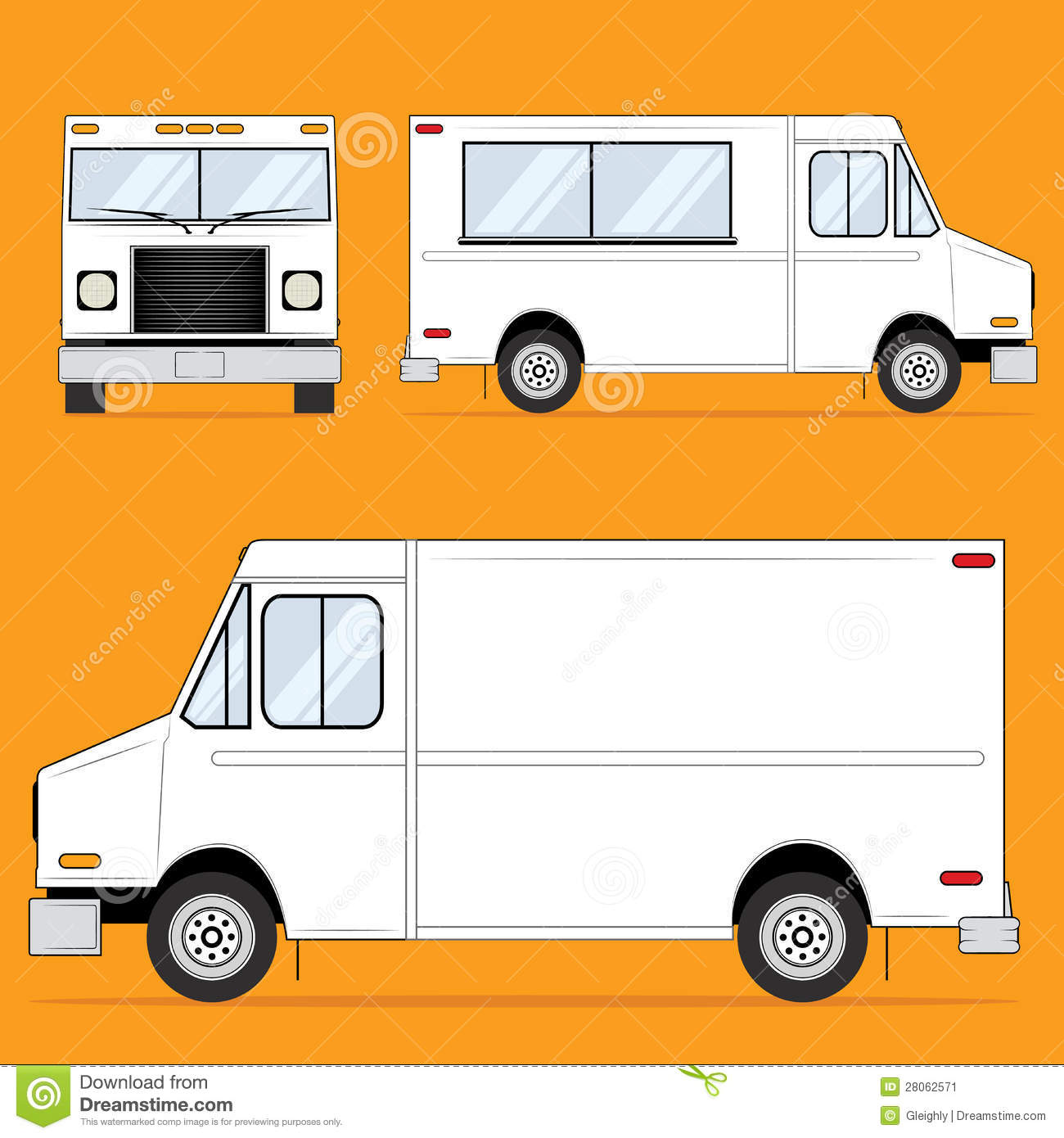 Food Truck Blank Stock Image Image 28062571
