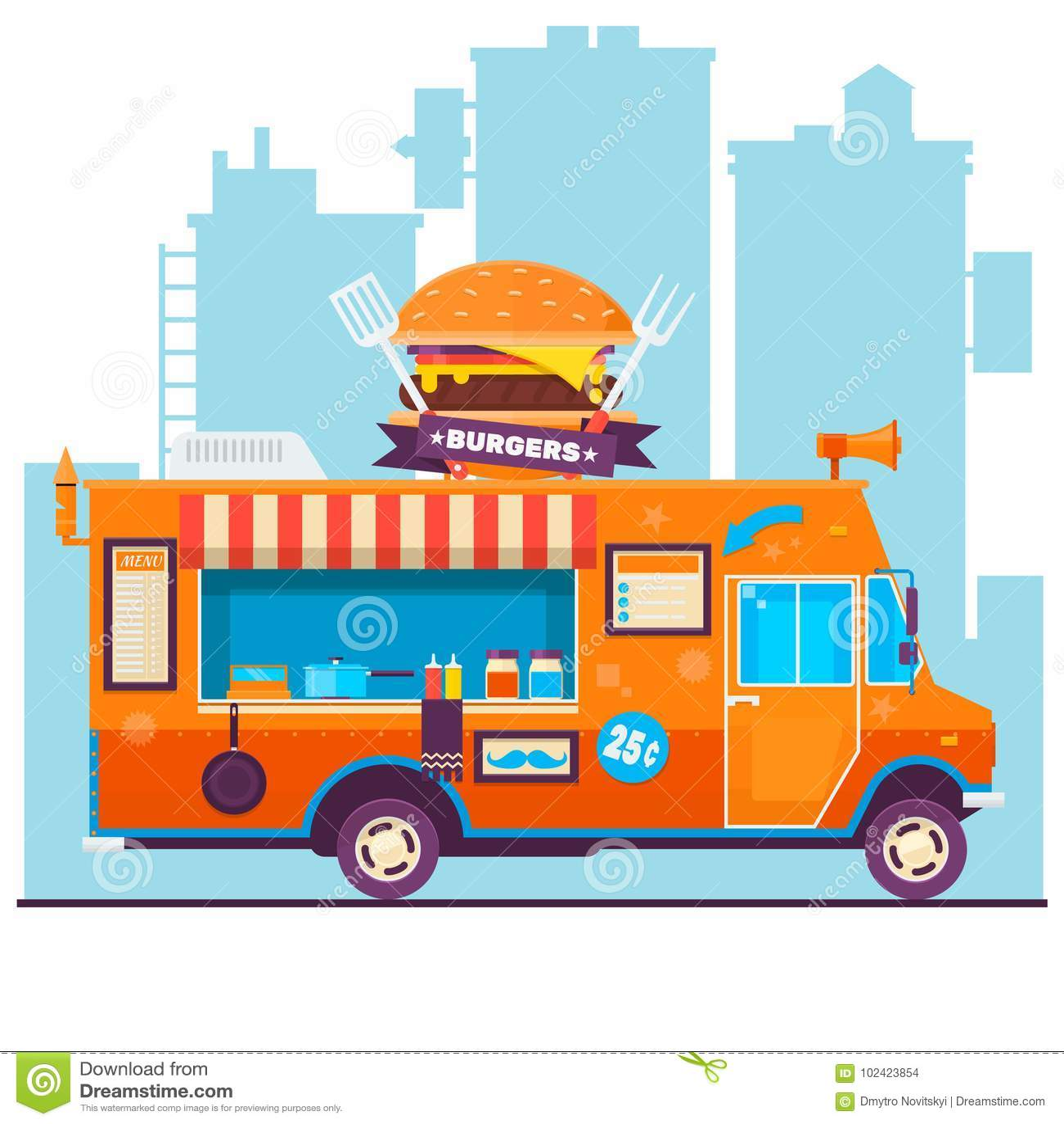 food truck festival menu food brochure street food template design