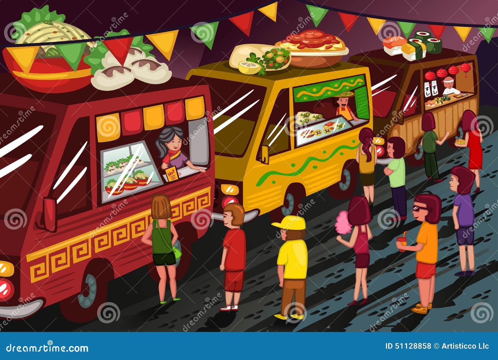 Food truck festival stock vector image 51128858 for Food truck design app
