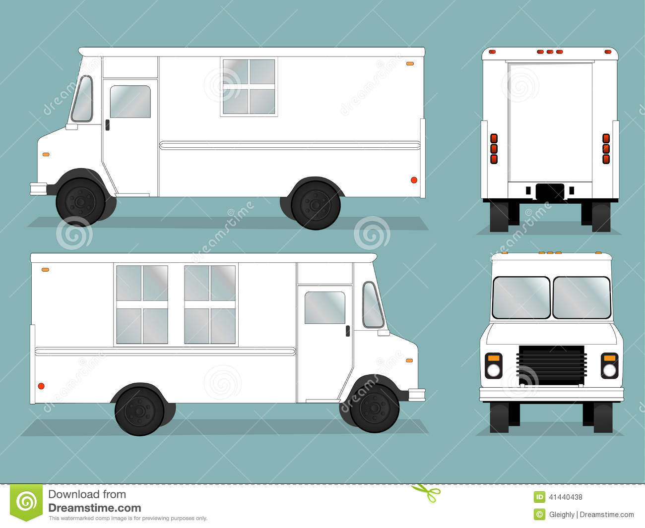 Food Truck Template Illustration 41440438
