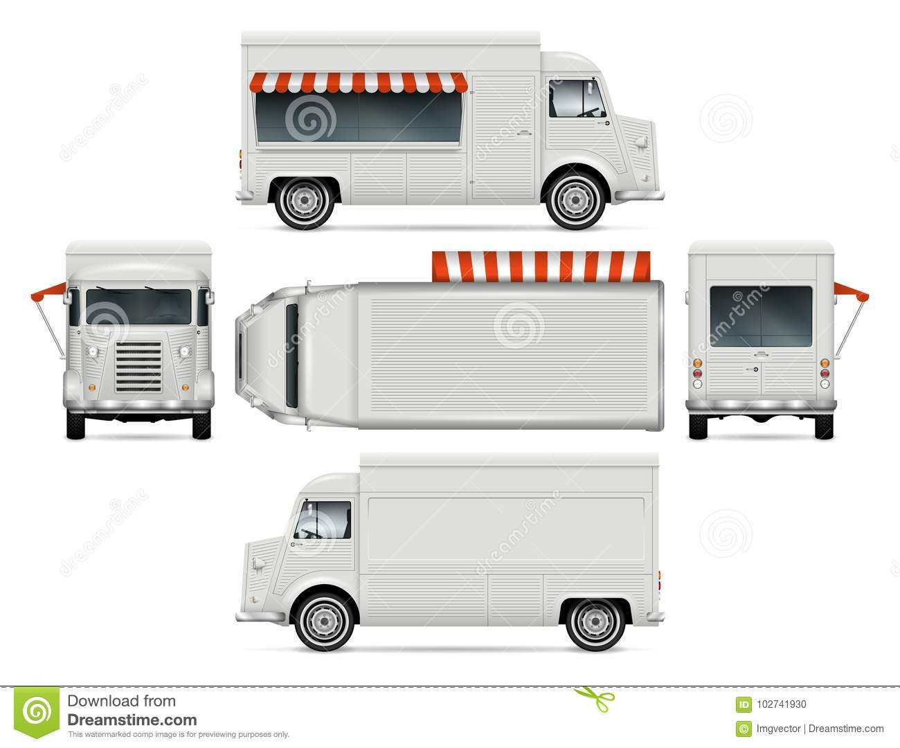 food truck template stock vector illustration of mobile 102741930