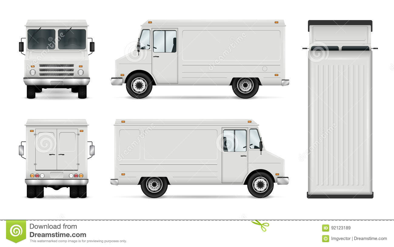 food truck vector template stock vector illustration of empty