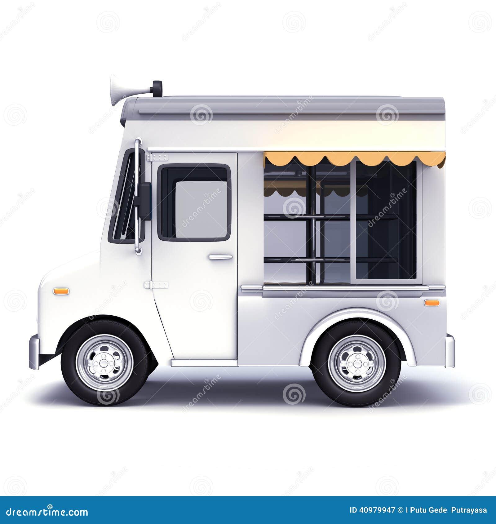 Food truck white stock illustration image 40979947 for Food truck design app