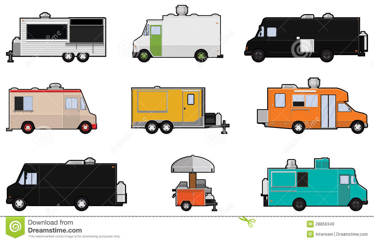 food truck template stock vector illustration of drawing 41440438