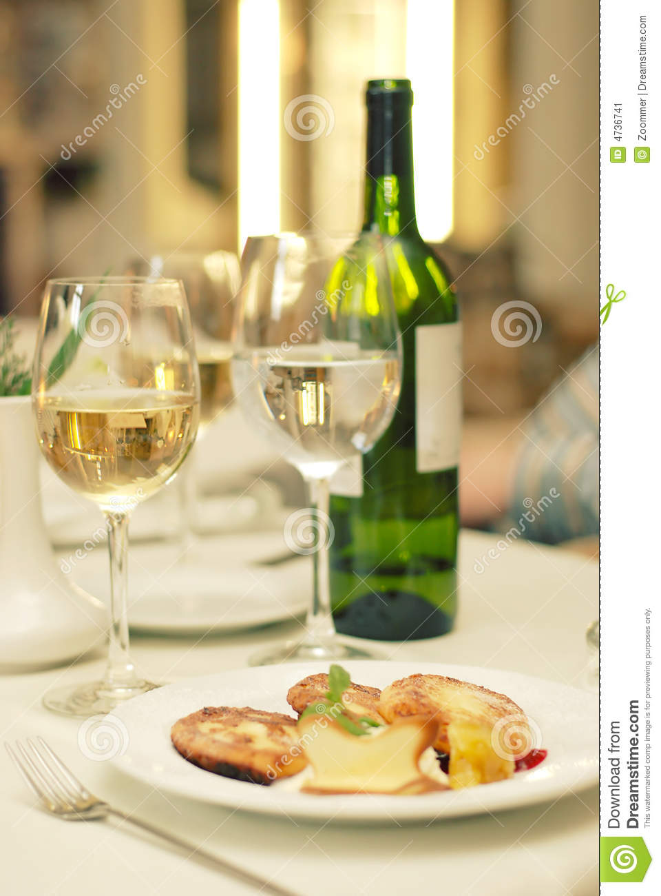 Food wine tasting on restaurant table stock image image for Fish in a bottle menu