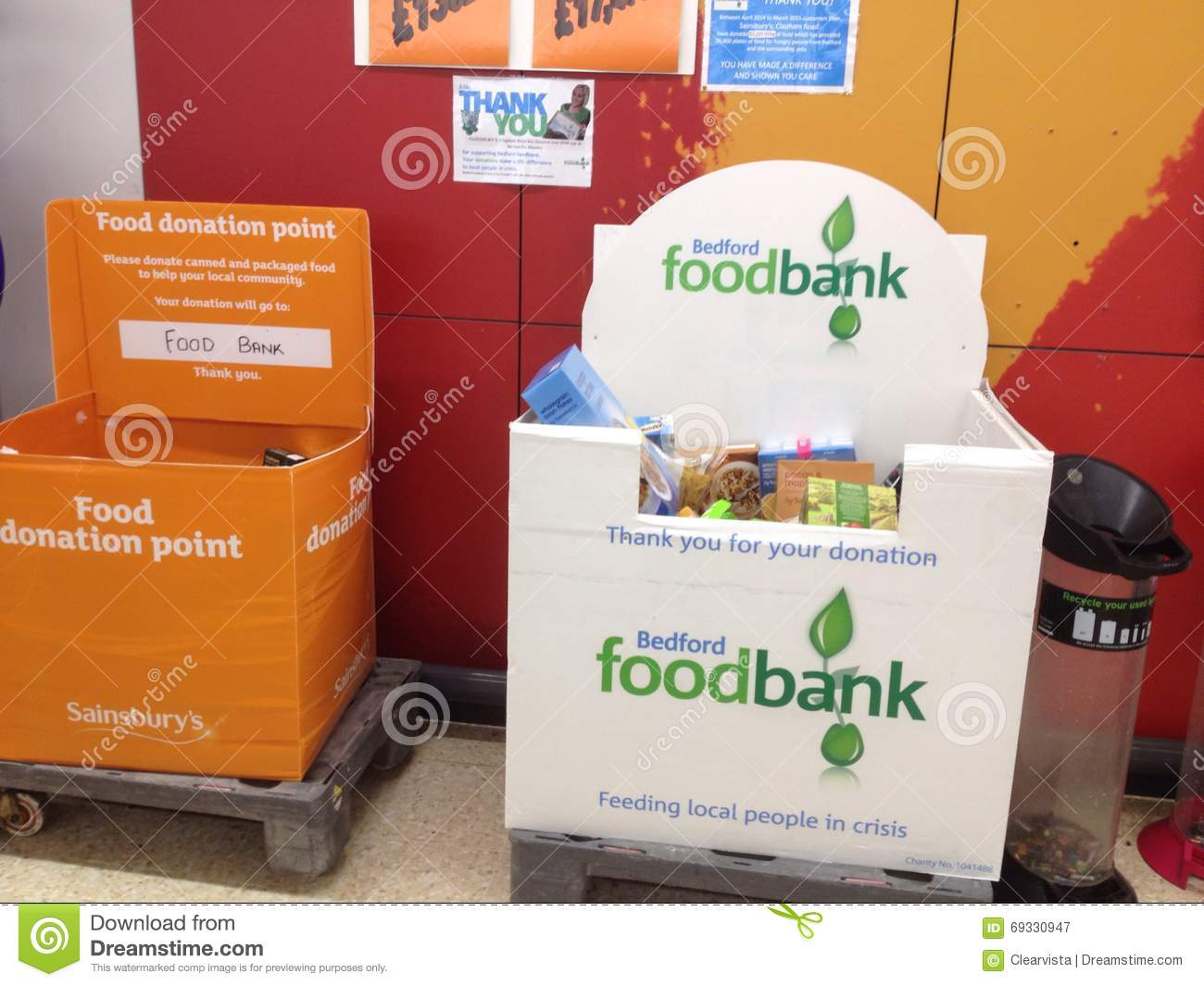 Foodbank Donation Point In The Uk Editorial Photography