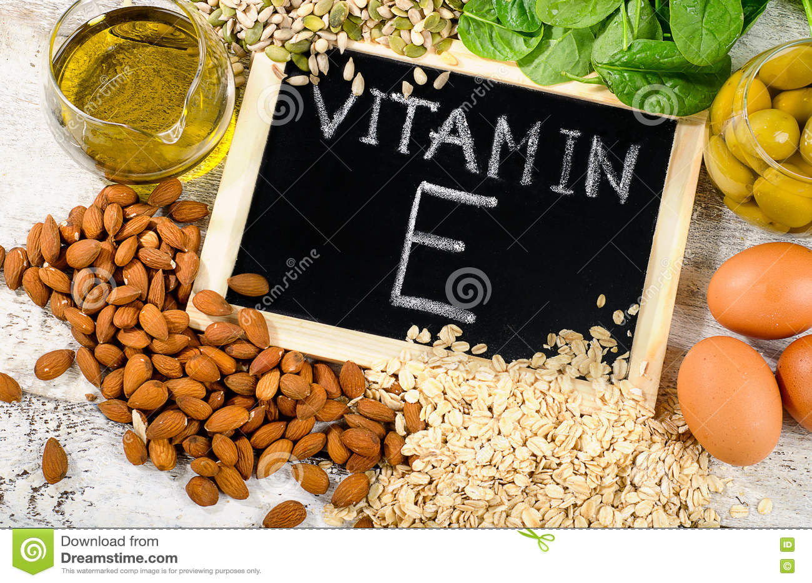Foods som är höga i ett vitamin E