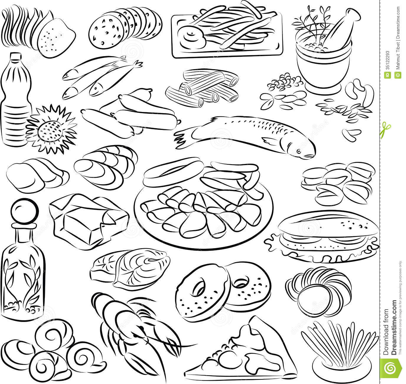 free black white food clipart images - photo #4