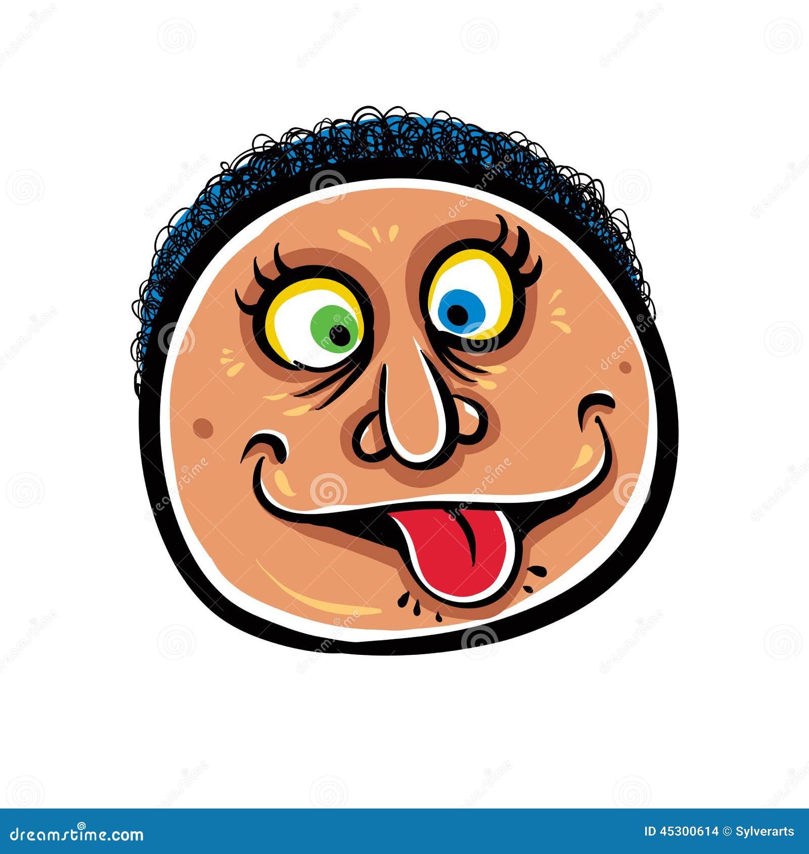 Foolish Cartoon Face, Vector Illustration. Stock Vector ...