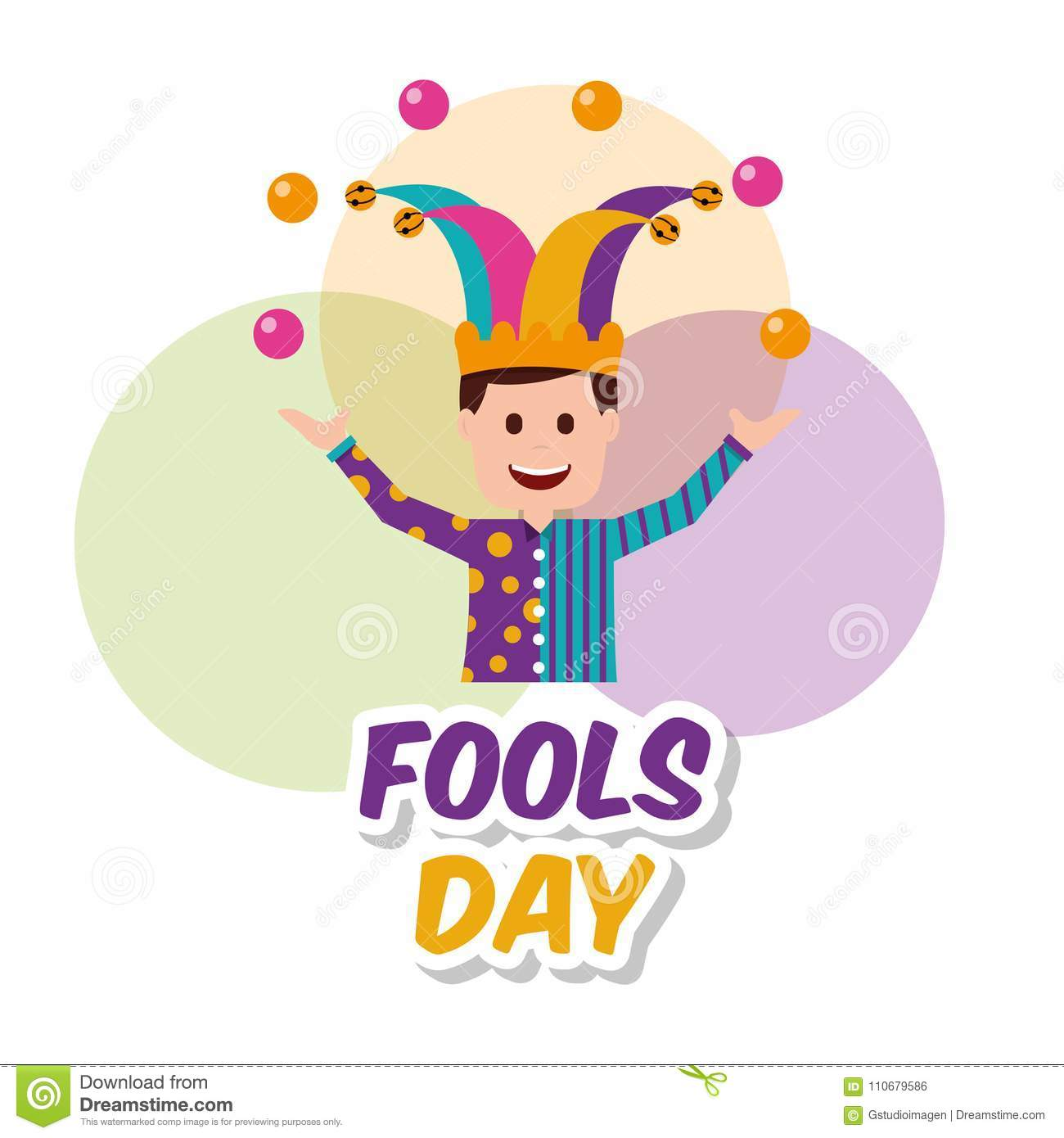 Fools Day Greeting Card Stock Vector Illustration Of Seamless