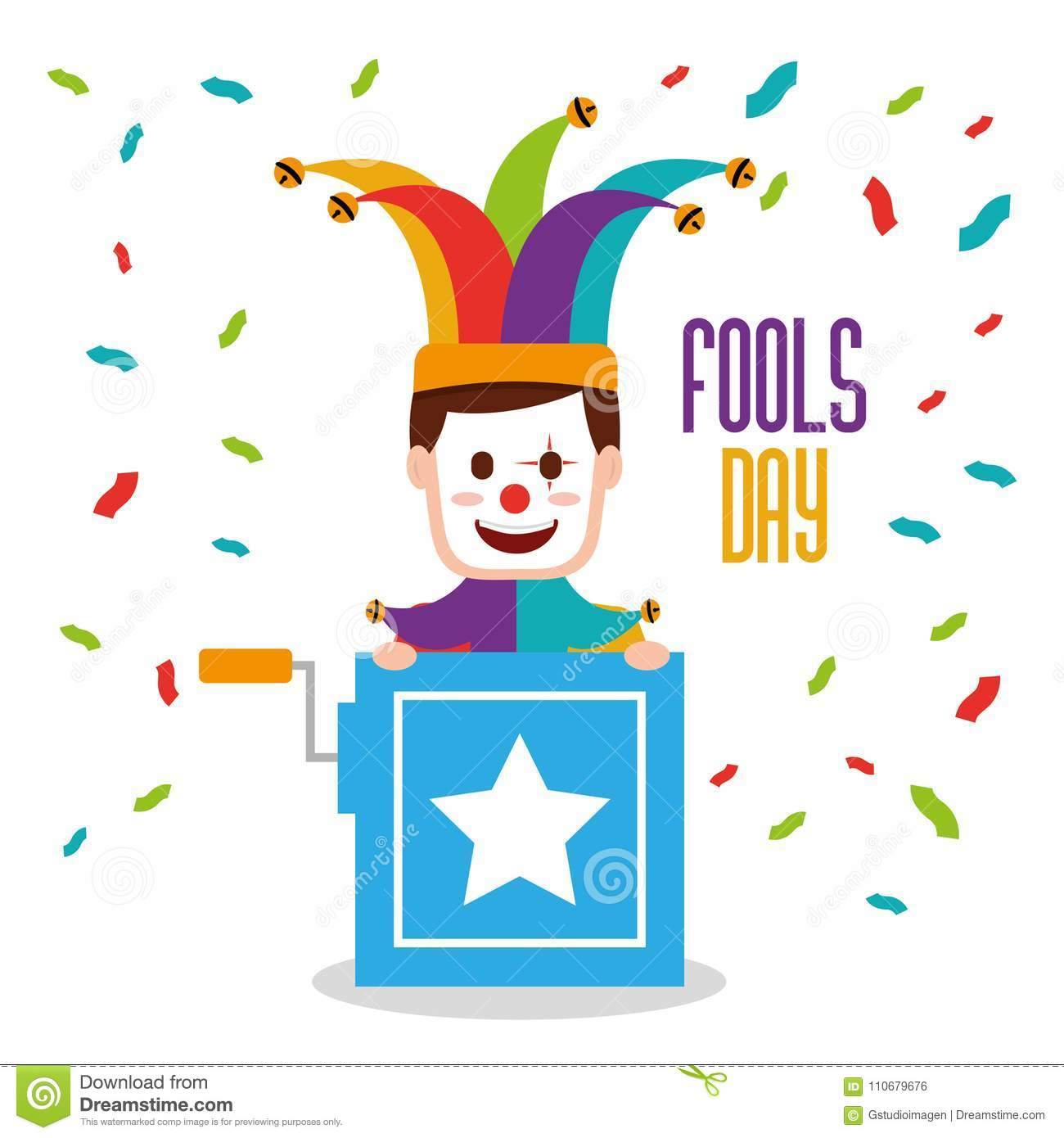Fools Day Greeting Card Stock Vector Illustration Of Handsome