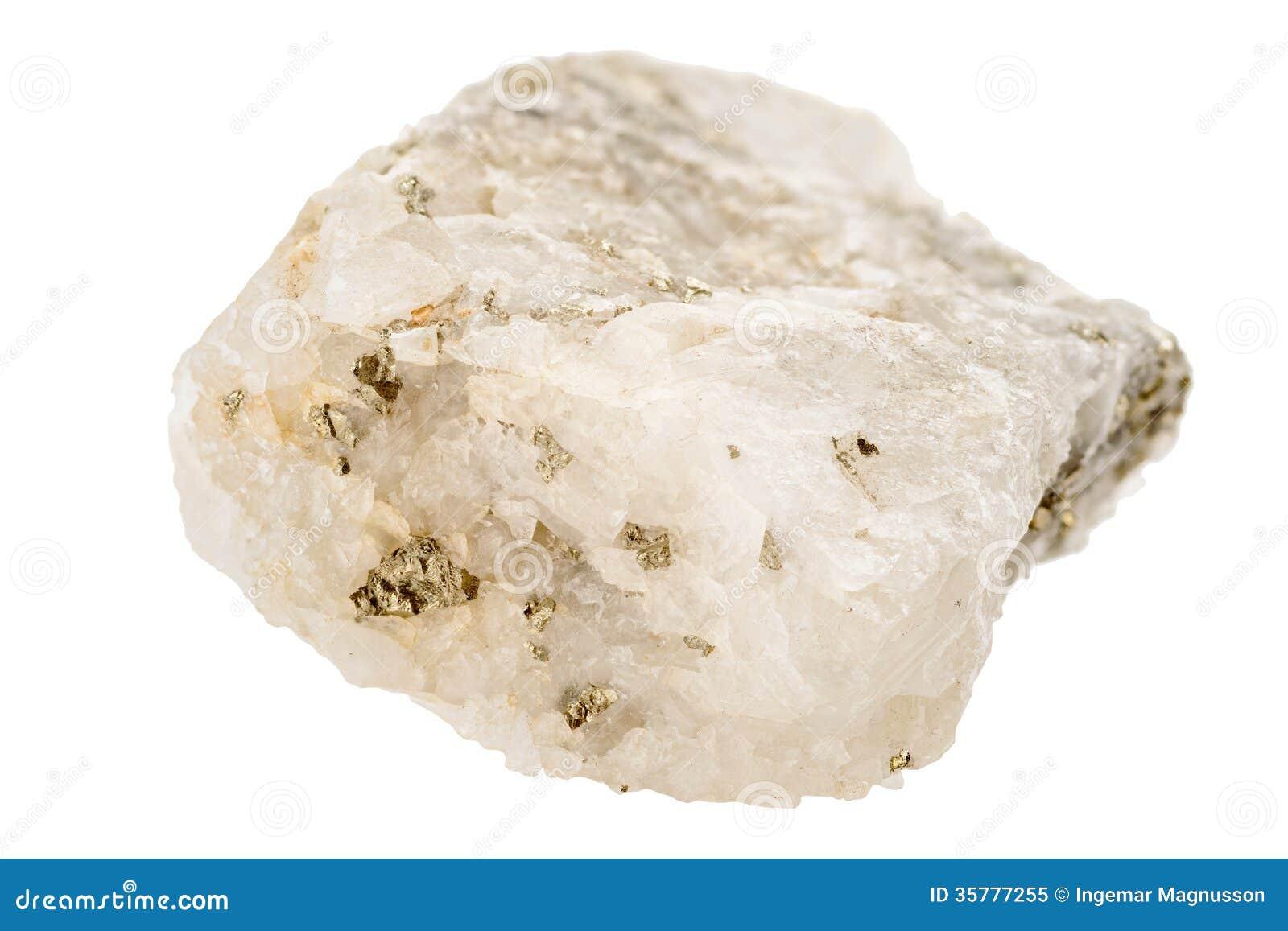 fools gold pyrite in quartz stock image image of