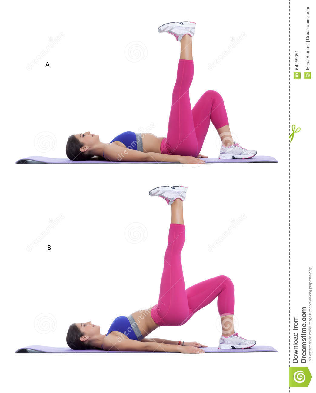 Foot-Elevated Hip Thrust stock image. Image of training ...