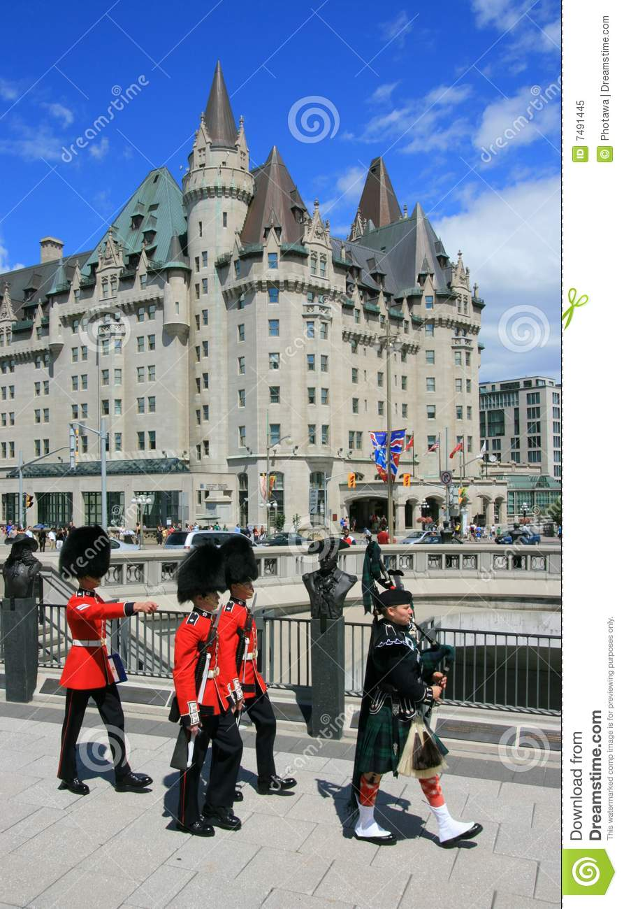Foot Guards in Downtown Ottawa