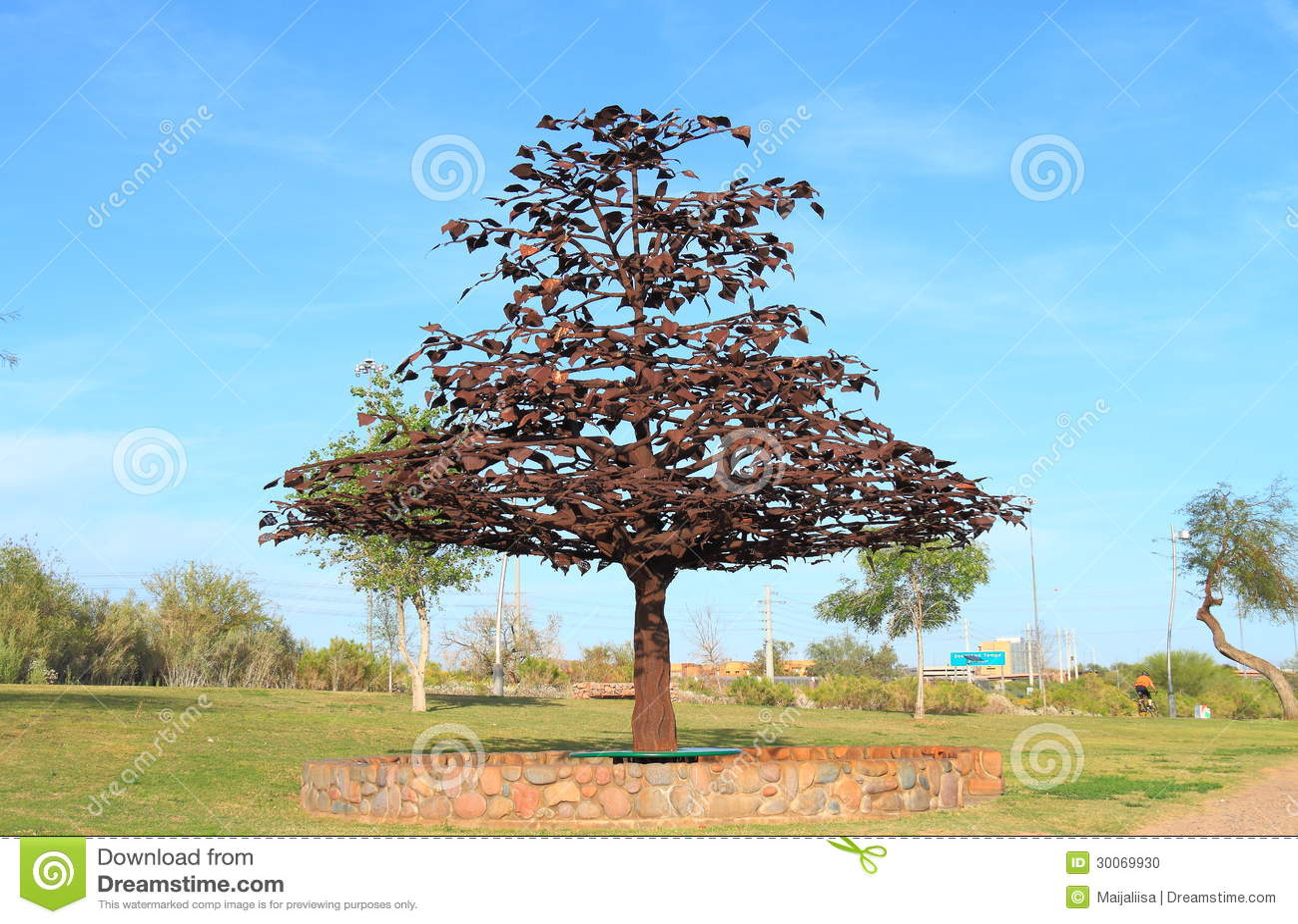 Usa Arizona Tempe Steel Tree Sculpture Editorial Image