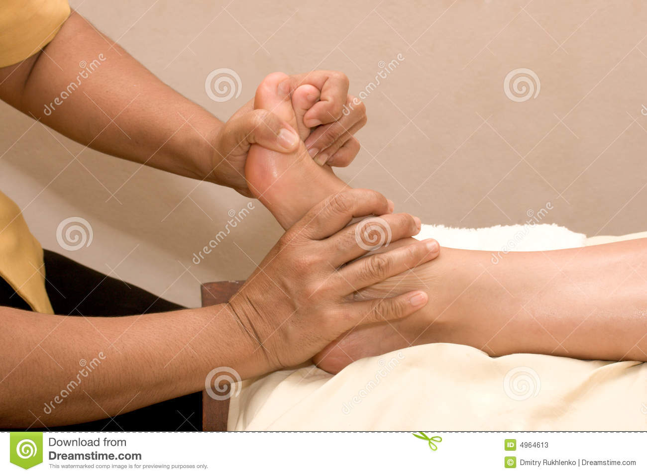 Download Foot massage in spa stock image. Image of close, healthcare - 4964613