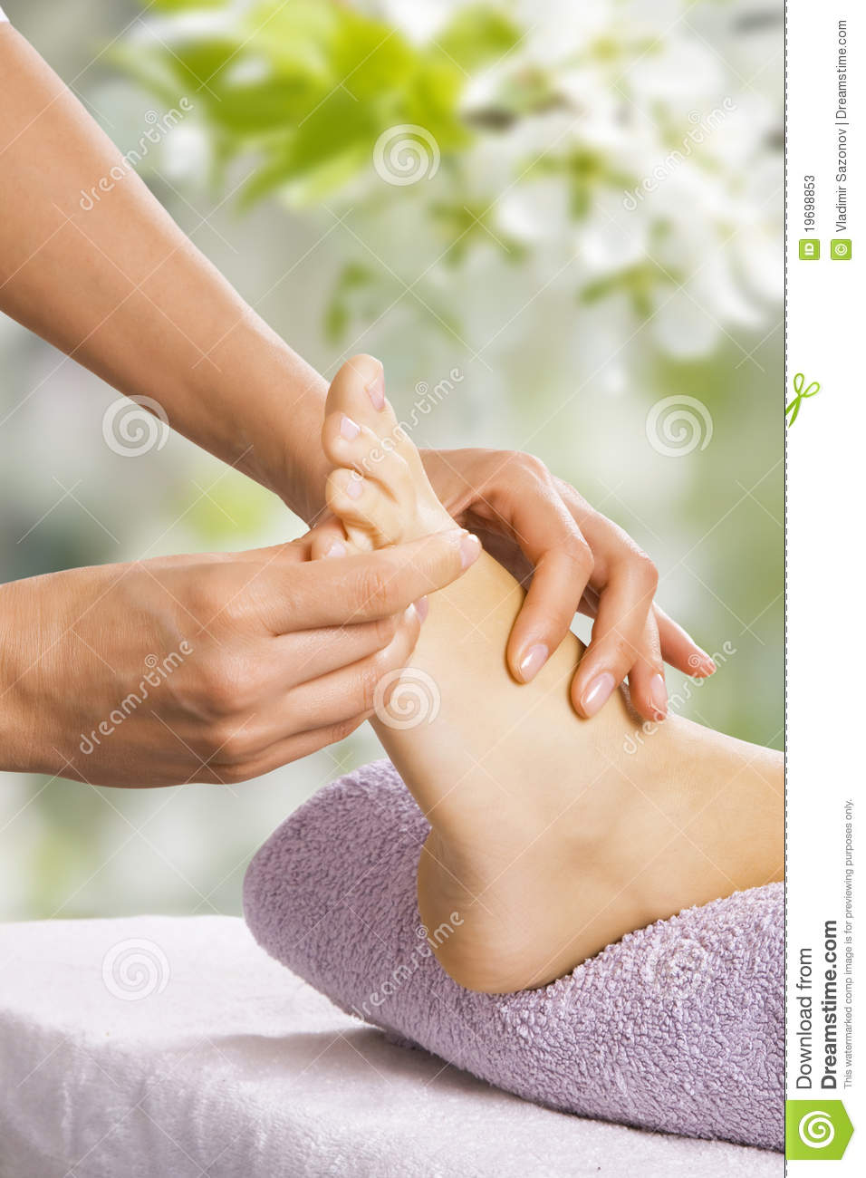 Foot Massage In The Spa Salon Stock Image - Image: 19698853