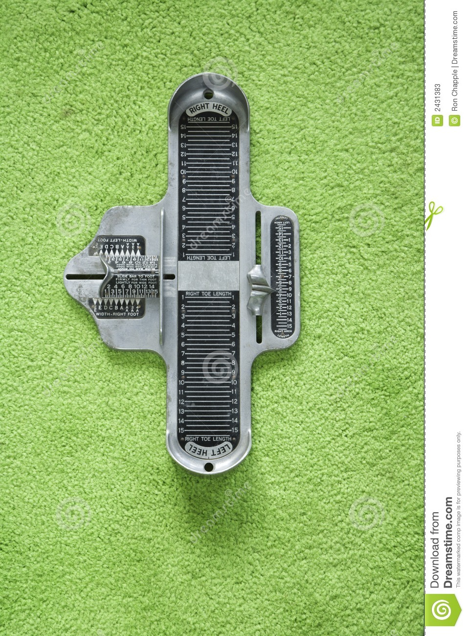 Foot Measuring Device Stock Image Image Of Foot Colour