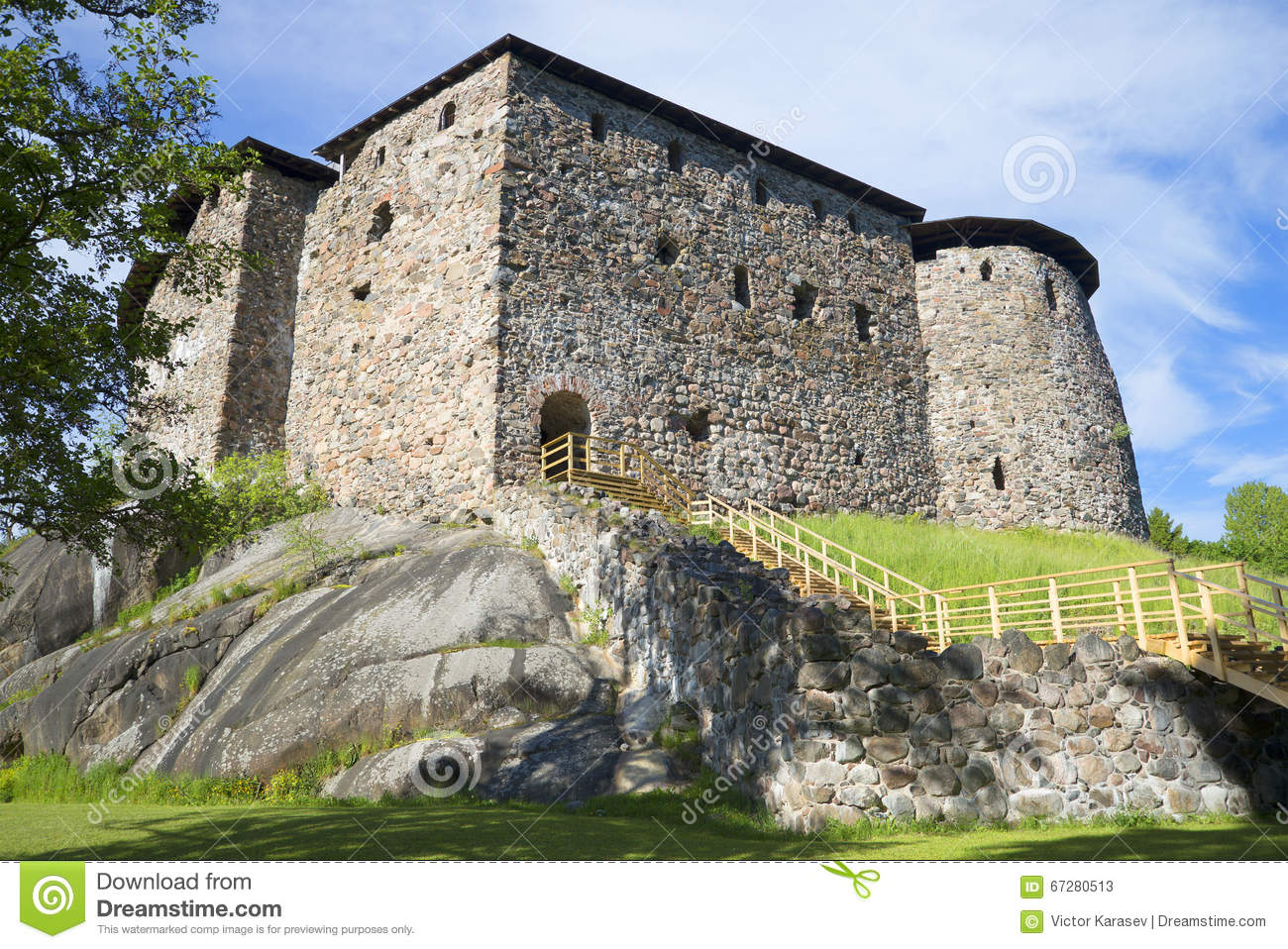 At The Foot Of The Medieval Castle Of Raseborg
