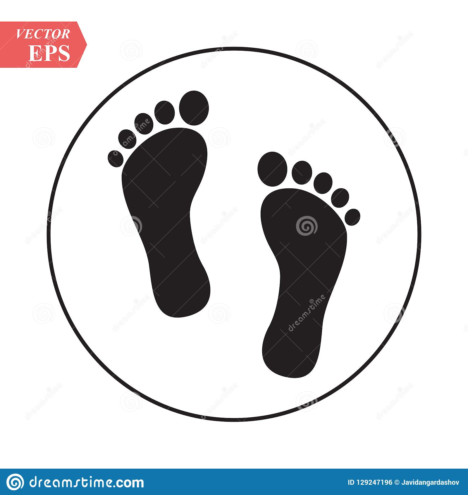 foot print icon bare foot print black on white feet icon vector stock vector illustration flat design style stock vector illustration of footstep button 129247196 https www dreamstime com foot print icon bare black white feet vector stock illustration flat design style eps image129247196