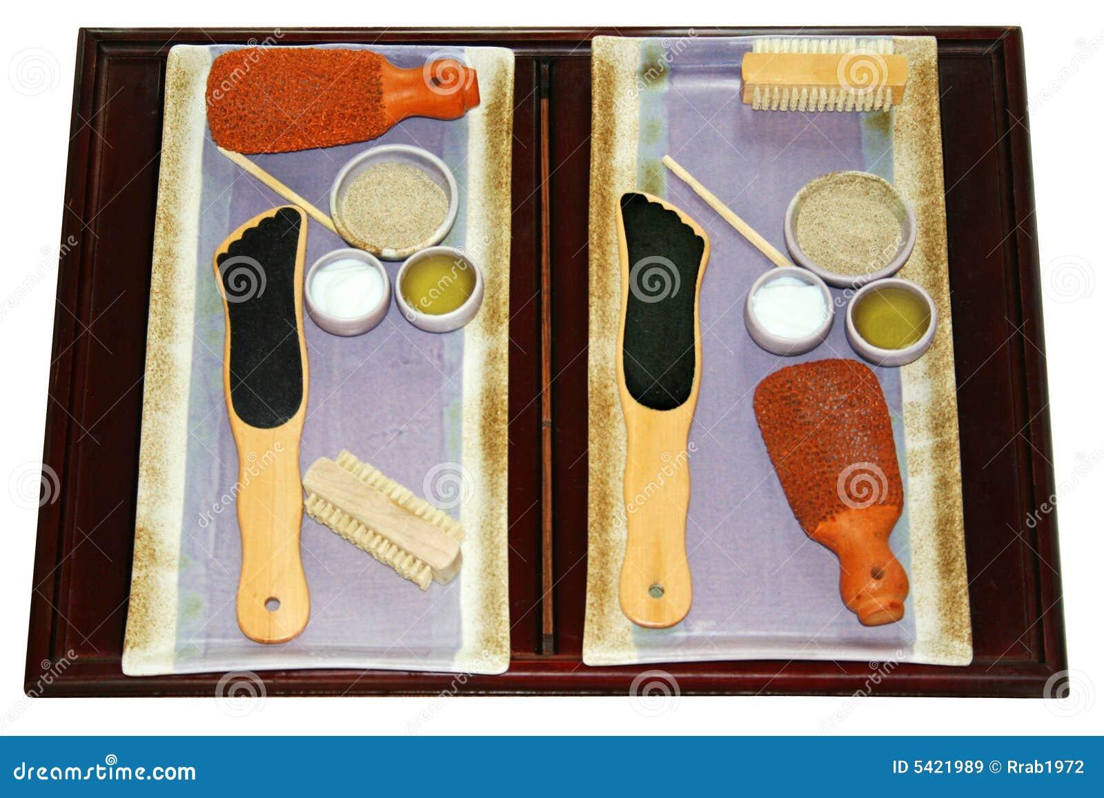 Foot Scrub Spa Materials Royalty Free Stock Images Image 5421989