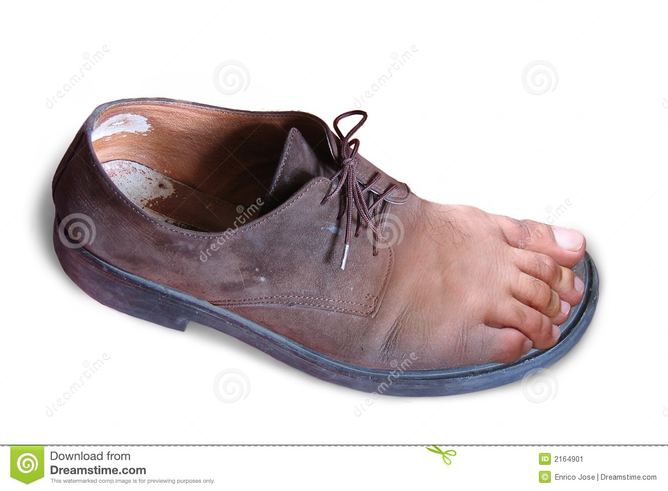 Foot and shoe
