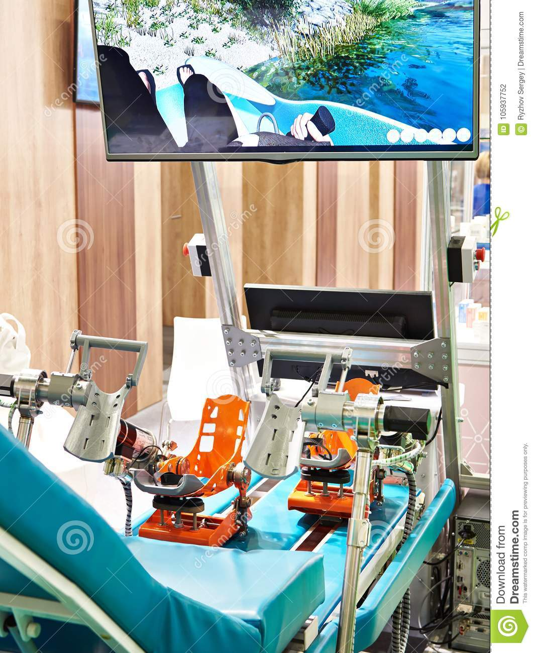 Foot simulator for rehabilitation of disabled people