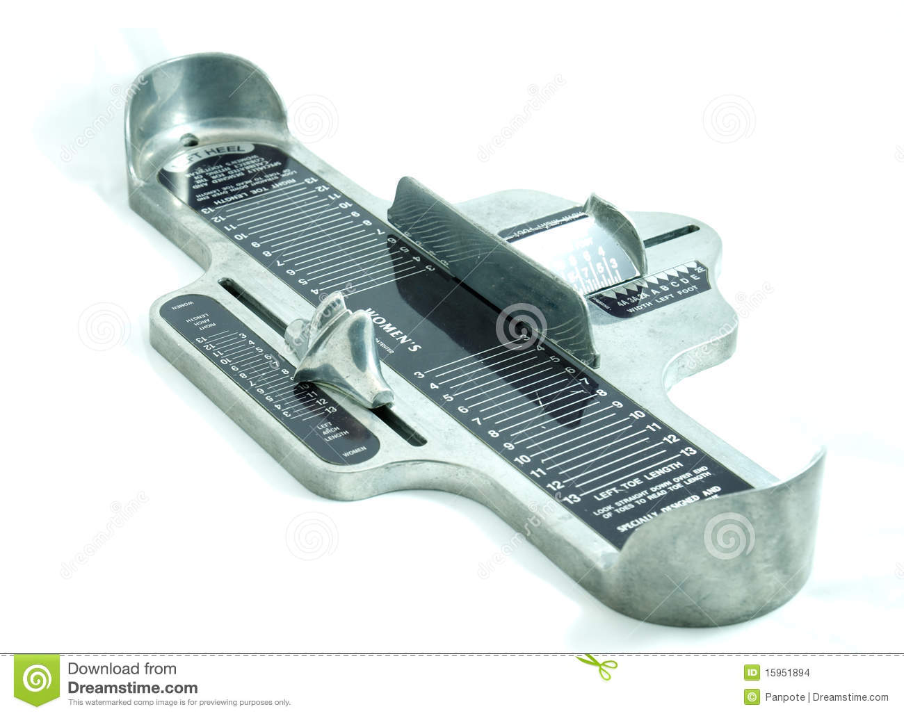 foot size measurement device stock photo image of test human