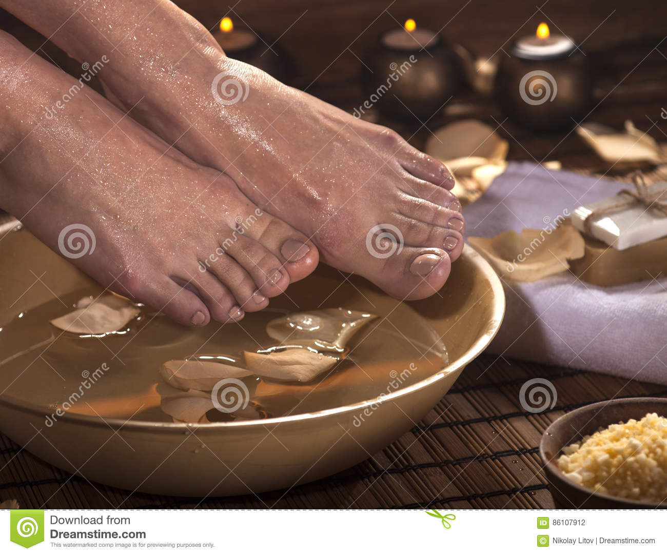 Foot Spa Treatment stock photo. Image of bath, care, massage - 86107912